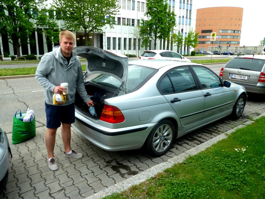 Mateusz loading up in Vienna