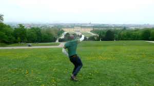 On royal grounds in Vienna!