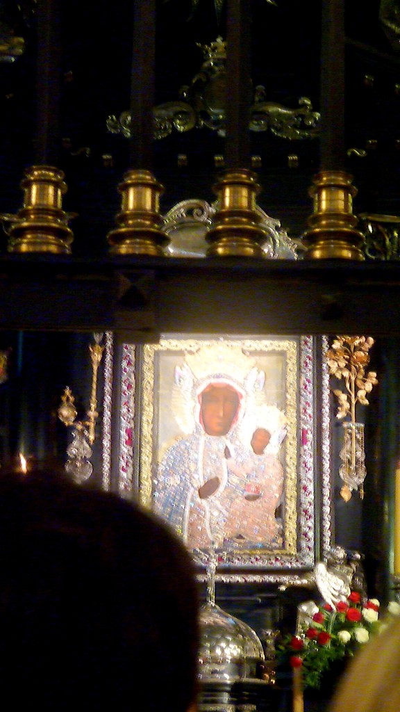 The Black Madonna - as close as I got - aided by my camera zoom