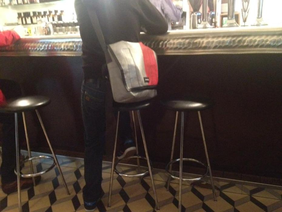 Coffeehouses and Freitag seem to go shoulder to shoulder. Photo courtesy of Yannis Claude.