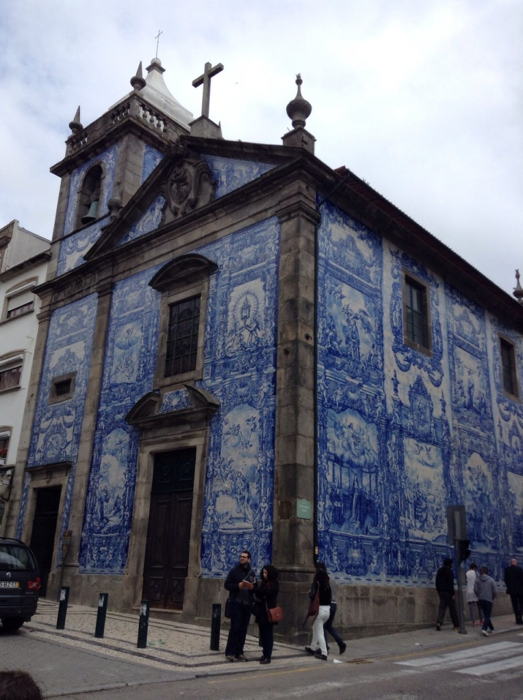Blue tiles: The outside of the church tells tales