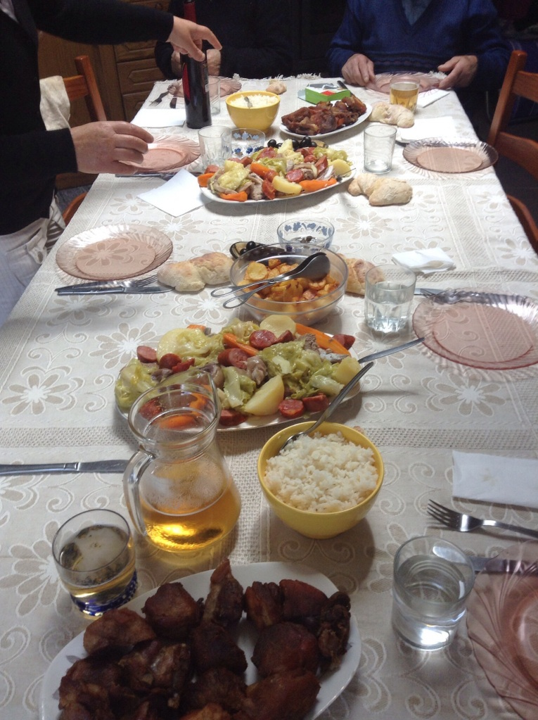A family dinner in a village near Porto. Homecooked meals are always nice.
